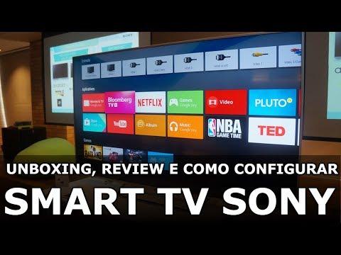 TV SONY KDL 48R555C | Unboxing, Review e Como Configurar