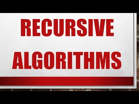 Design and Analysis of Algorithms - Lecture 2 - Recursive Algorithms