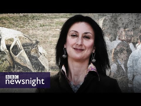 The murder of journalist Daphne Caruana Galizia: Malta's shame? - BBC Newsnight