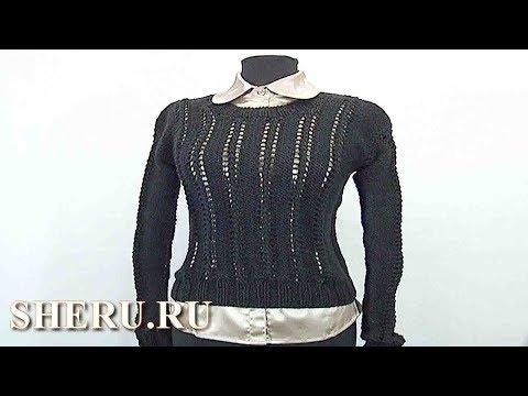 Вязание простого свитера спицами. Урок 29