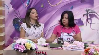 Mulher.com - 16/11/2016 - Flor origami em tecido - Ivone Lobato