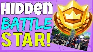 Fortnite SECRET HIDDEN BATTLE STAR LOCATION semaine 6 - Blockbuster Challenges Saison 4