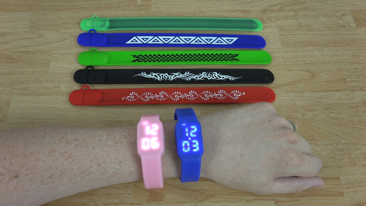 Plugable 8gb Usb 2 0 Flash Drive Silicone Wrist Watches Snap Bands You