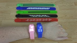 Plugable 8GB USB 2.0 Flash Drive Silicone Wrist Watches & Snap Bands