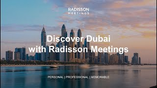 Plan your next event in Dubai with #RadissonHotels