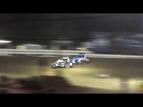 Quincy Raceways POWRi Midget main 6/09/2016