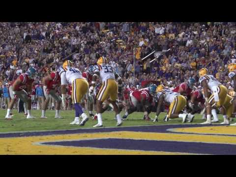 a46166768 Derrius Guice ran for a school-record 285 yards with four touchdowns and  Danny Etling threw for 324 yards and two scores to give short-handed No.