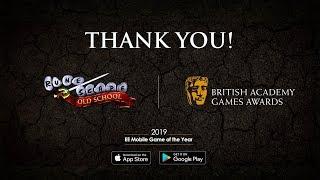 Thank you from Old School RuneScape - Gratz on a BAFTA!