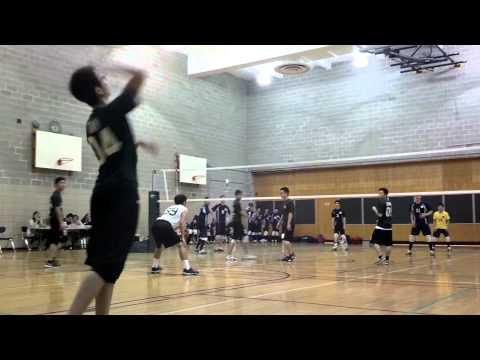 Edward R Murrow high school men's volleyball April 4, 2013 (1) against Fort Hamilton high