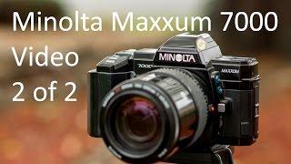 До Minolta Maxxum (Альфа, Dynax) відео 7000 інструкція 2 з 2