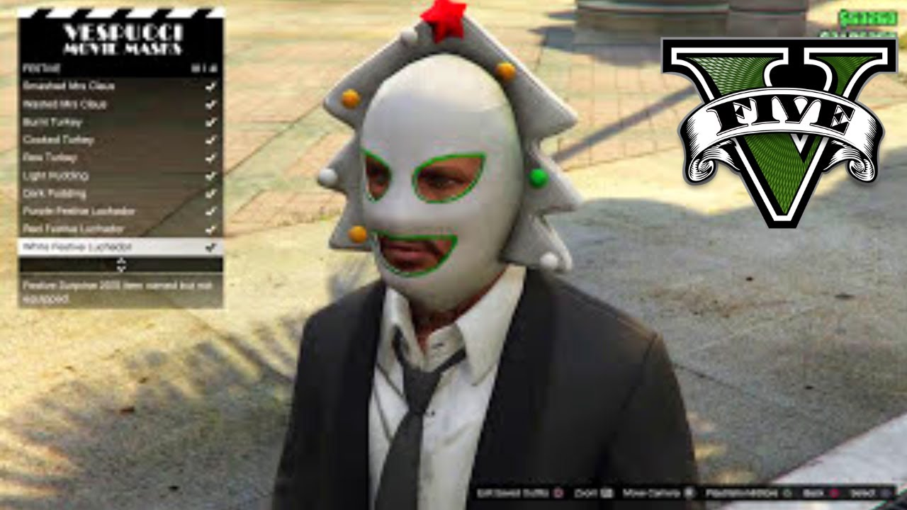 Gta 5 Online All Christmas Masks.Gta V All Festive Christmas Masks ᴴᴰ