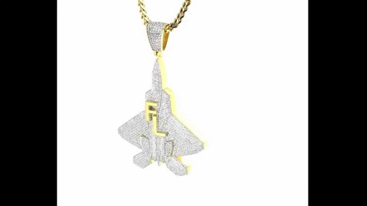 Iced out rocket jet fighter plane custom pendant youtube iced out rocket jet fighter plane custom pendant aloadofball Image collections