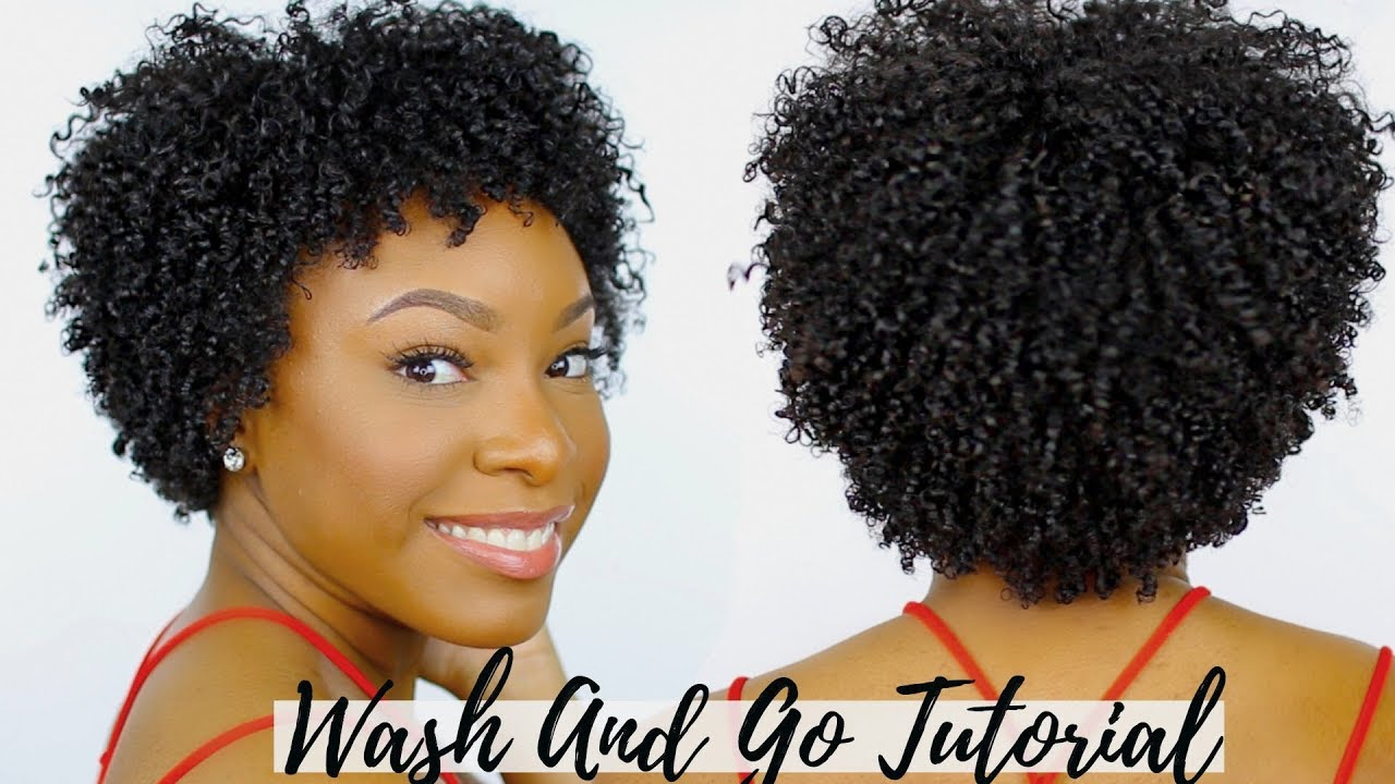 Type 4 Hairstyles: SUPER Defined Wash And Go On Short Natural Hair