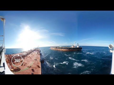 Underway Ship-to-Ship (STS) Transfer Operation | 360 Video