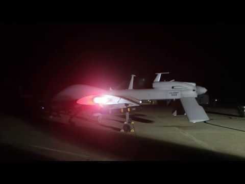 MQ-1C Gray Eagle Prepares for Surveillance at Al Asad