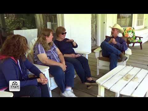 with Wyatt McCrea at the Joel and Frances McCrea Ranch