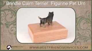 Brindle Cairn Terrier Figurine Pet Urn