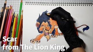 라이온킹 스카 그리기, Drawing Scar from The Lion King
