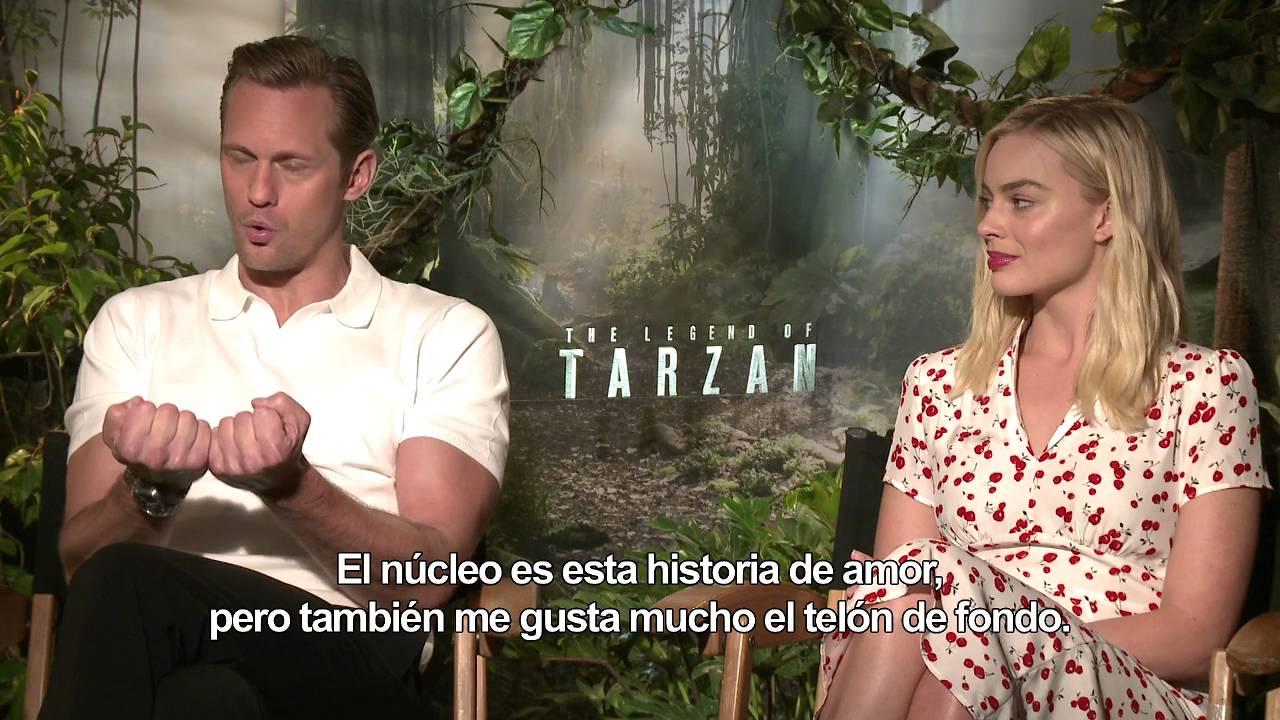 La Leyenda De Tarzán Entrevista A Alexander Skarsgård Y Margot Robbie Hd Youtube