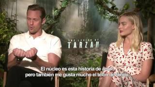 La Leyenda de Tarzán - Entrevista a Alexander Skarsgård y Margot Robbie HD