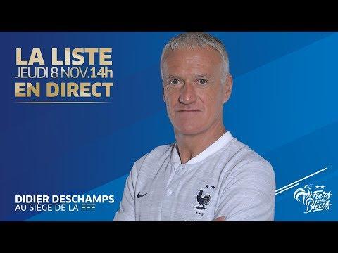 L'annonce de liste et la conférence de Didier Deschamps en replay, Équipe de France I FFF 2018