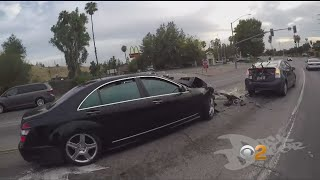 Motorcyclist Records Himself Following Erratic Hit-And-Run Driver From Colton To Moreno Valley