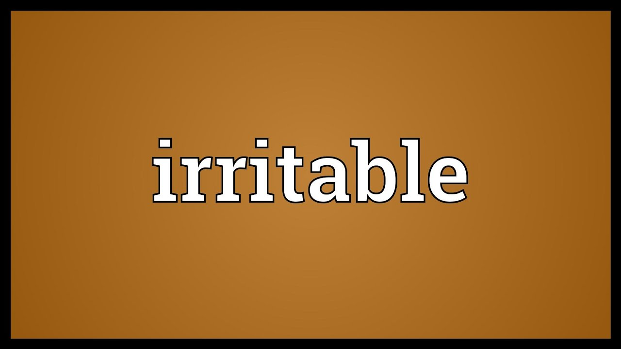 how to stop being so irritable