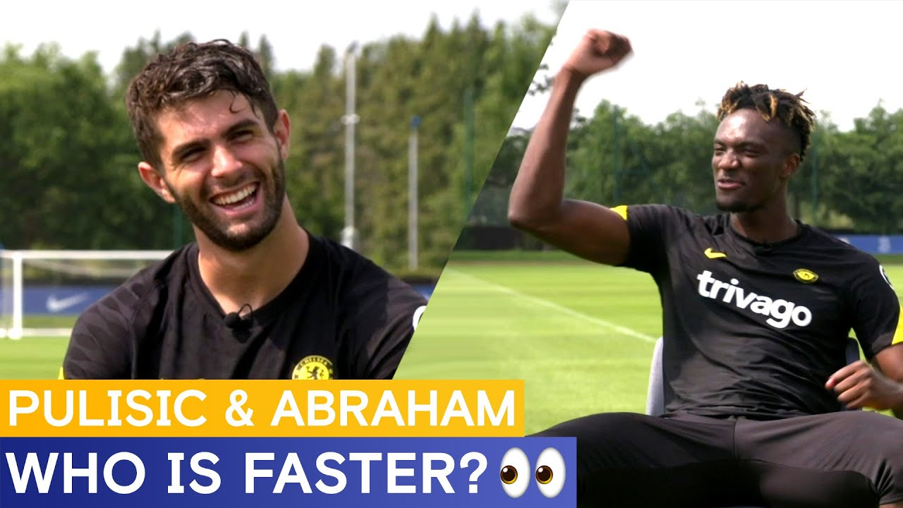 Tammy Abraham & Christian Pulisic debate who is faster 👀
