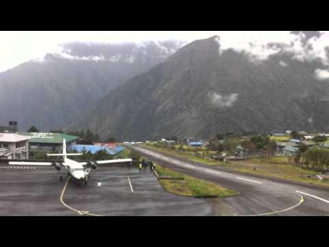 Lukla | Scary Take off | Bad weather | Rainy day | 2016
