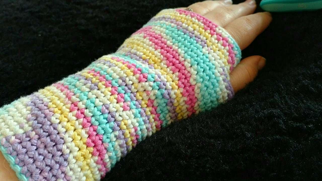 Fingerless gloves diy - How To Rainbow Crochet Fingerless Gloves Diy Crafts Tutorial Guidecentral