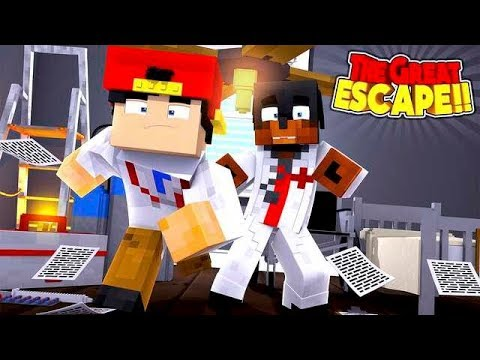 Minecraft THE GREAT ESCAPE - WHO CAN ESCAPE THE CRAZY HOSPITAL FIRST?!!!