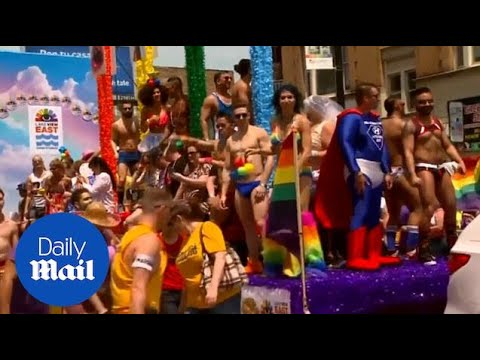 Thousands Turn Out To Celebrate Gay Pride Day In New York - Daily Mail