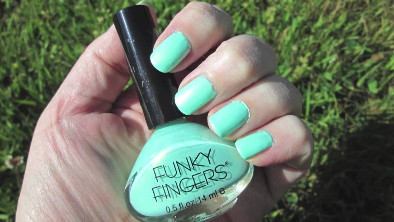 FUNKY FINGERS MRS. MINT NAIL POLISH - YouTube