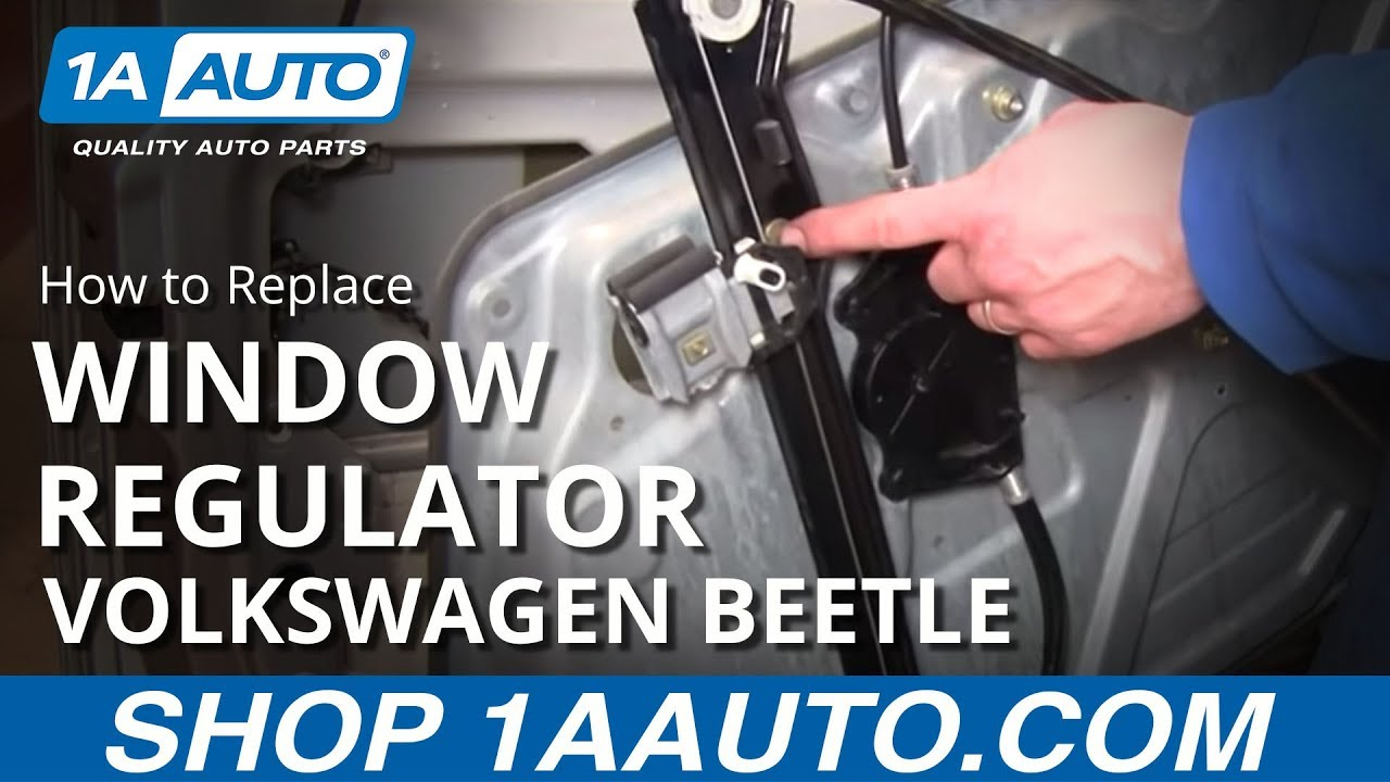 how to replace window regulator 98-10 volkswagen beetle