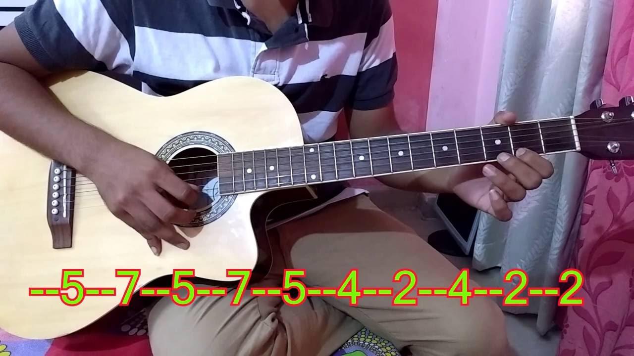 Tum Hi Ho Guitar Tabs Single String Easy For Beginners Youtube