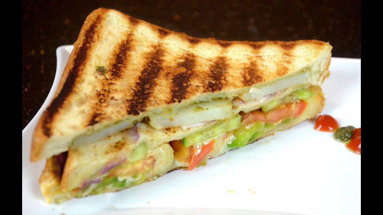 Veg Sandwich Bombay Grilled Sandwich Street Food