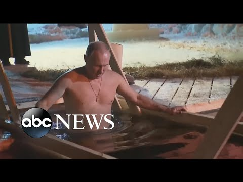 Shirtless Vladimir Putin Takes Dip In Icy Russian Lake For The Epiphany