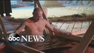 Shirtless Vladimir Putin takes dip in icy Russian lake for the Epiphany