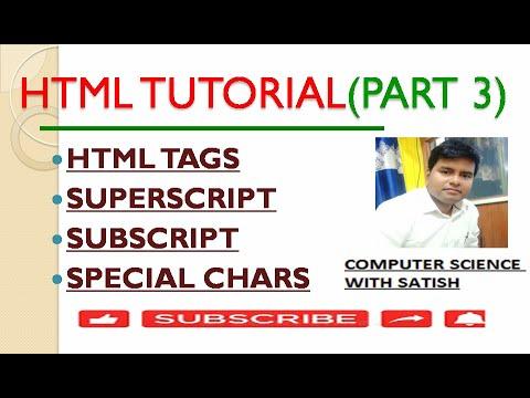HTML Tutorial (Part 3)