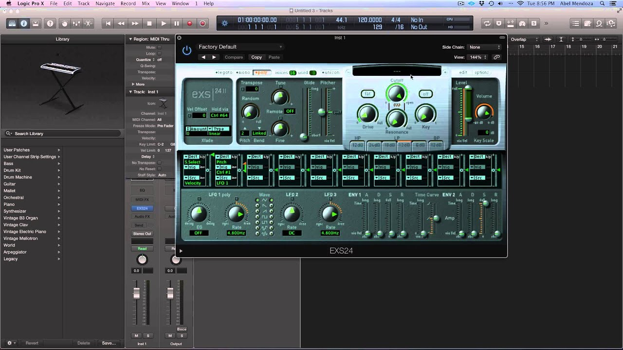 How To Import A Sample  EXS In EXS24 Logic Pro X/MainStage 3