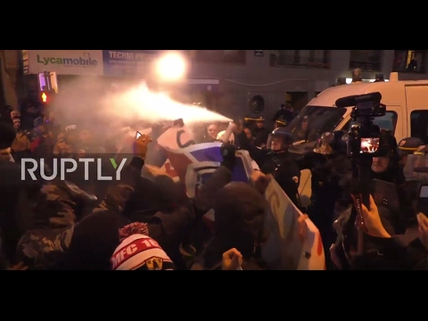 France: Protesters pepper sprayed in Paris at anti-police brutality rally