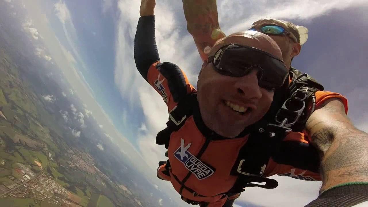 Salto de Paraquedas do Leonardo O na Queda Livre Paraquedismo 29 01 2017