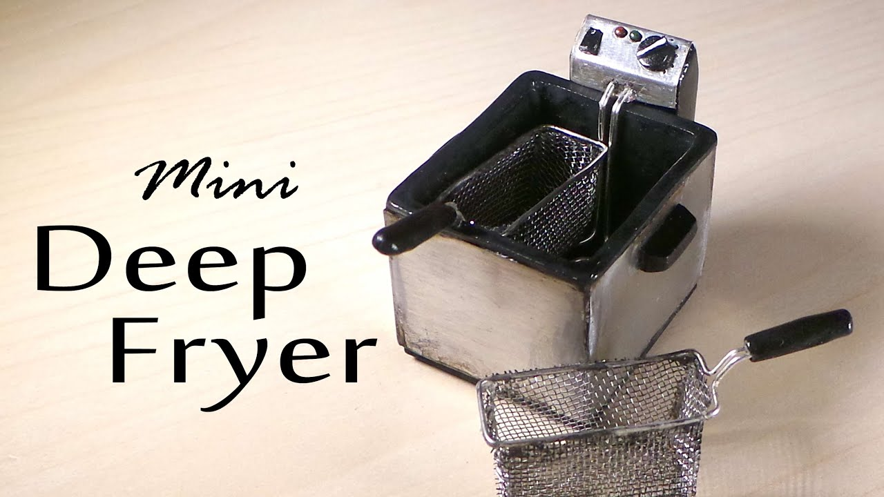 miniature deep fryer polymer clay tutorial youtube
