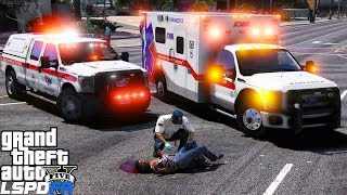 GTA 5 LSPDFR EMS Mod #13 | Playing As A Paramedic | American Medical Response Ambulance & Supervisor