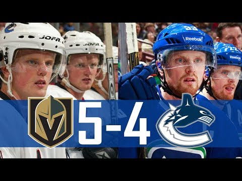 Canucks vs Golden Knights | Highlights | Apr. 3, 2018 [HD]