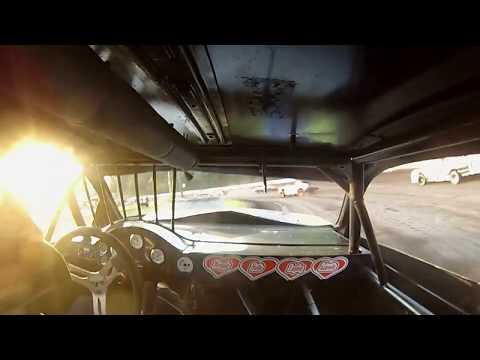 Hamilton County Speedway Stock Car Heat 1 6-10-17 (GoPro)