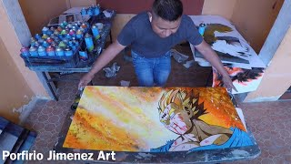 El Sacrificio de Vegeta Spray Paint Art Stencil