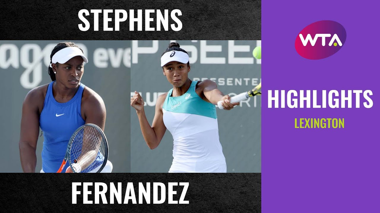 Download Sloane Stephens vs. Leylah Fernandez   2020 Lexington First Round   WTA Highlights