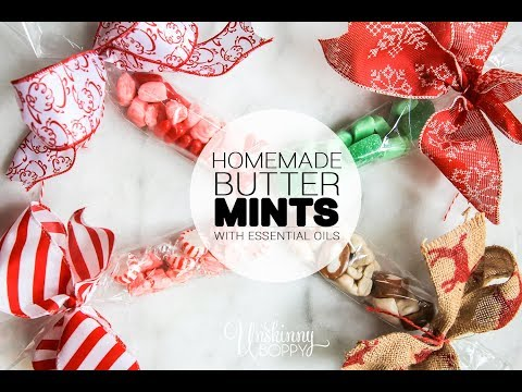 Homemade Butter Mints flavored with Essential Oils