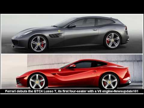 Ferrari Debuts The Gtc4 Lusso T Its First Four Seater With A V8 Engine Youtube